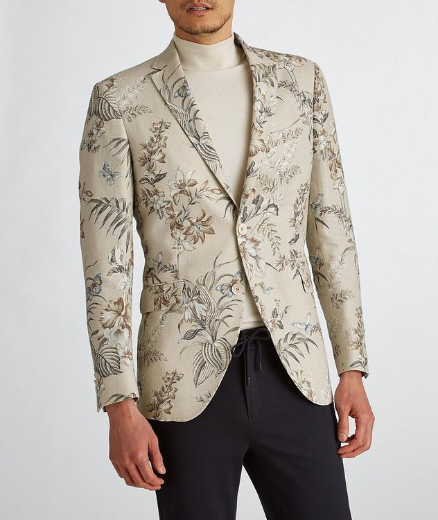 Botanical Linen, Silk, and Cotton Sports Jacket picture 6