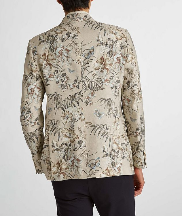 Botanical Linen, Silk, and Cotton Sports Jacket picture 7
