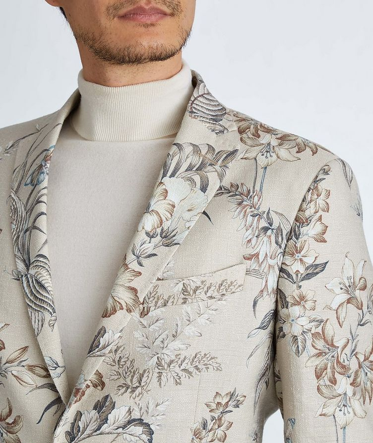 Botanical Linen, Silk, and Cotton Sports Jacket image 7