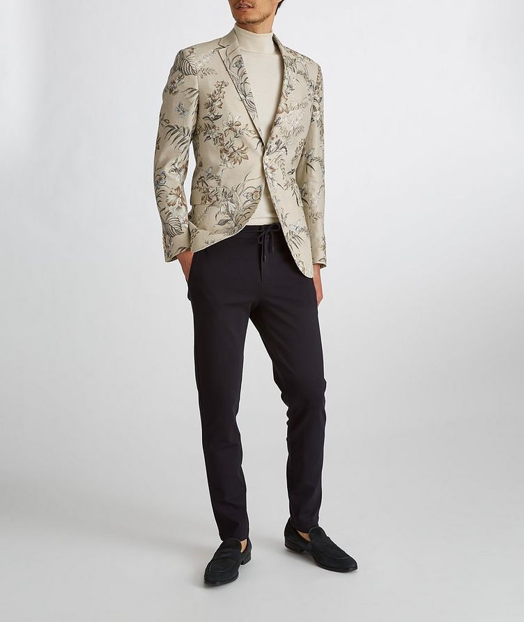Botanical Linen, Silk, and Cotton Sports Jacket image 8