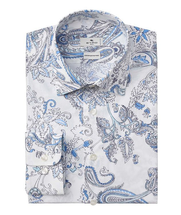 Comfortetro Paisley Stretch-Cotton Shirt picture 1