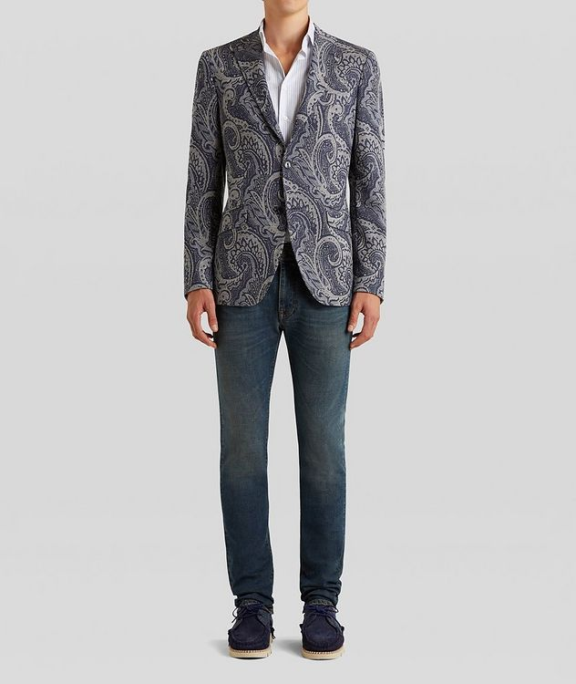 Paisley Jersey-Jacquard Sports Jacket picture 3