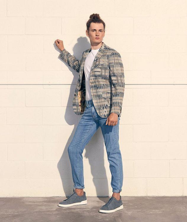 Ikat Linen-Cotton-Silk Sport Jacket picture 4