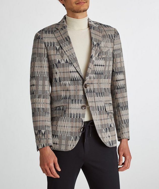 Ikat Linen-Cotton-Silk Sport Jacket picture 5