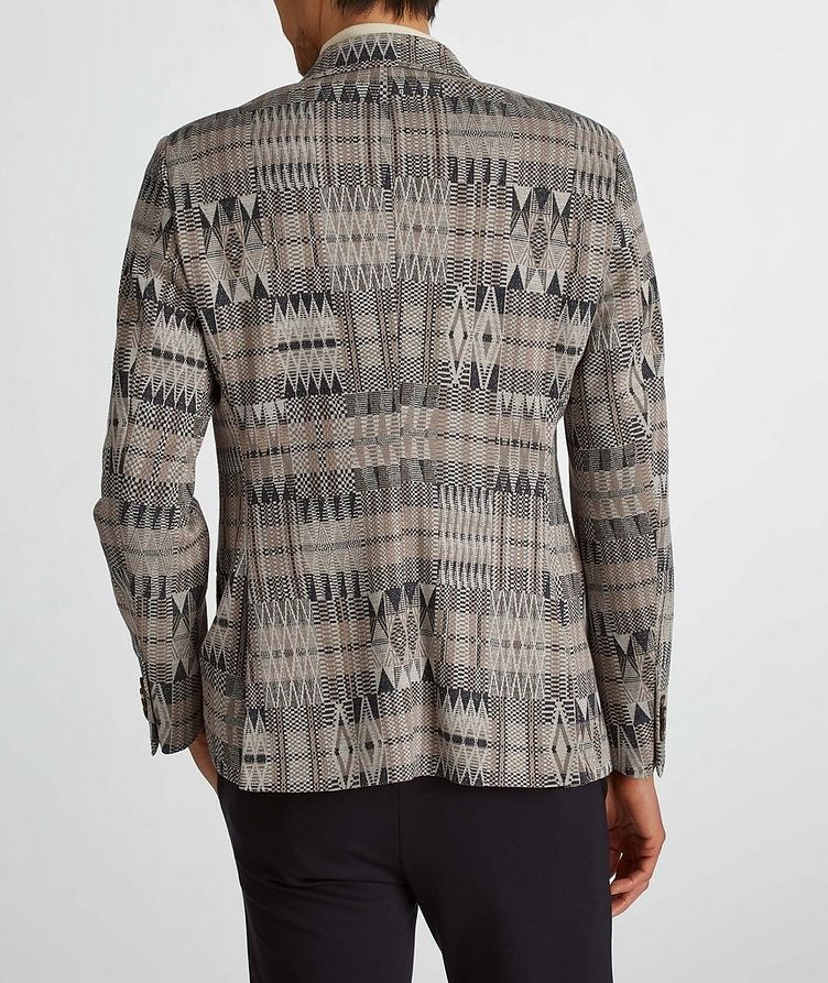Ikat Linen-Cotton-Silk Sport Jacket image 6