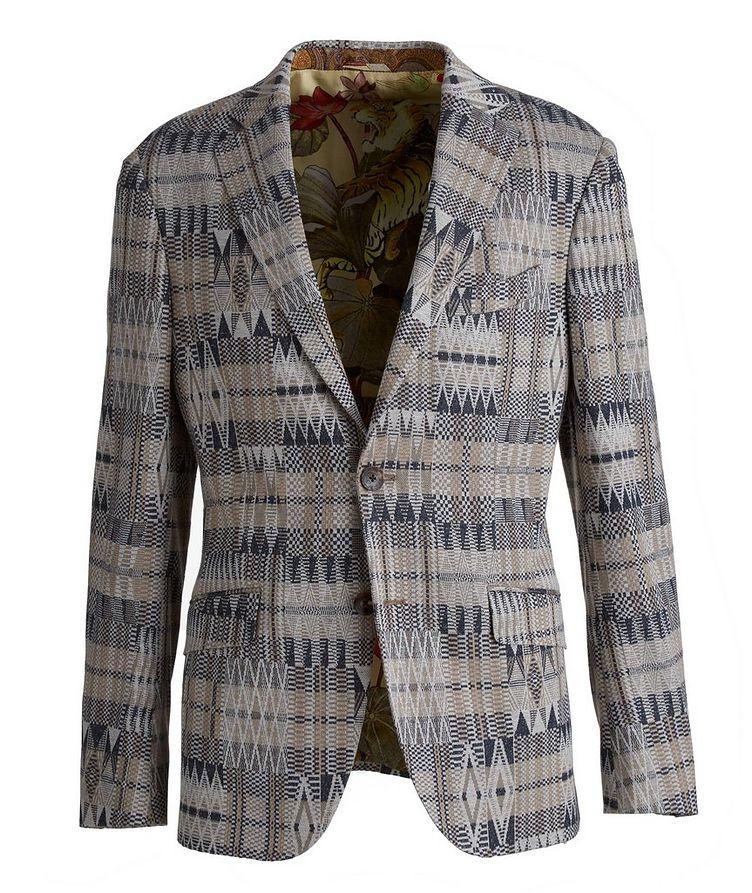 Ikat Linen-Cotton-Silk Sport Jacket image 0
