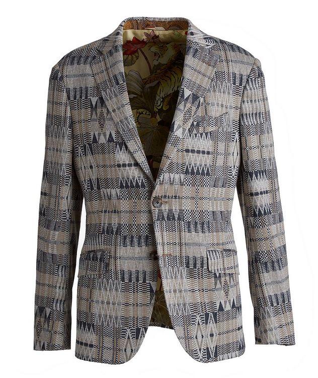 Ikat Linen-Cotton-Silk Sport Jacket picture 1