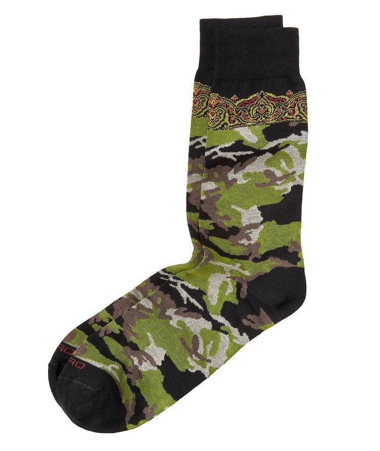 Camo-Printed Socks image 0