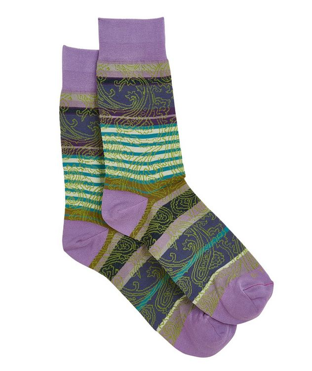 Striped Paisley Socks picture 1