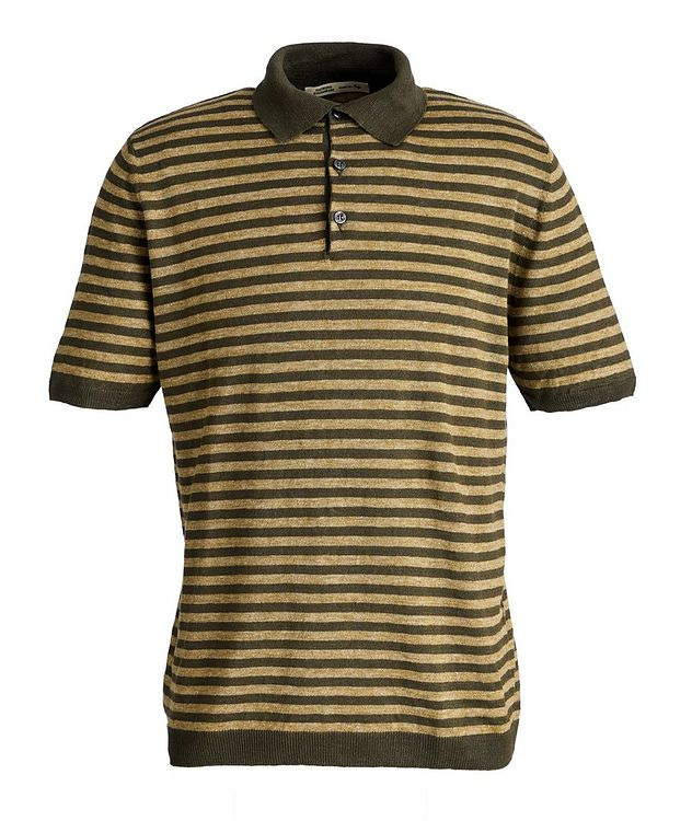 Striped Knit Linen Polo picture 1