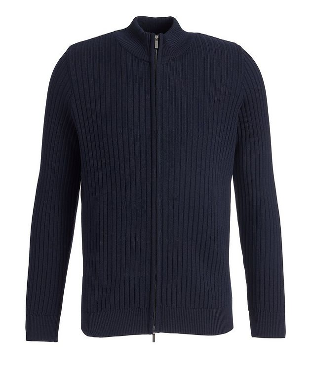 Brera Wool Zip-Up Cardigan picture 1