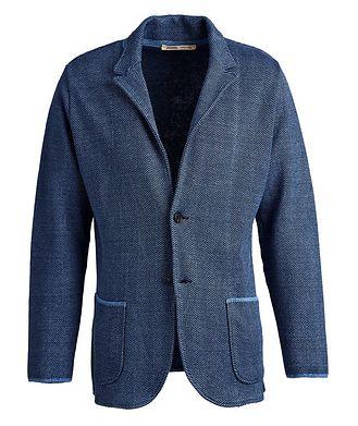 Maurizio Baldassari Linen Cotton Herringbone Sweater Jacket