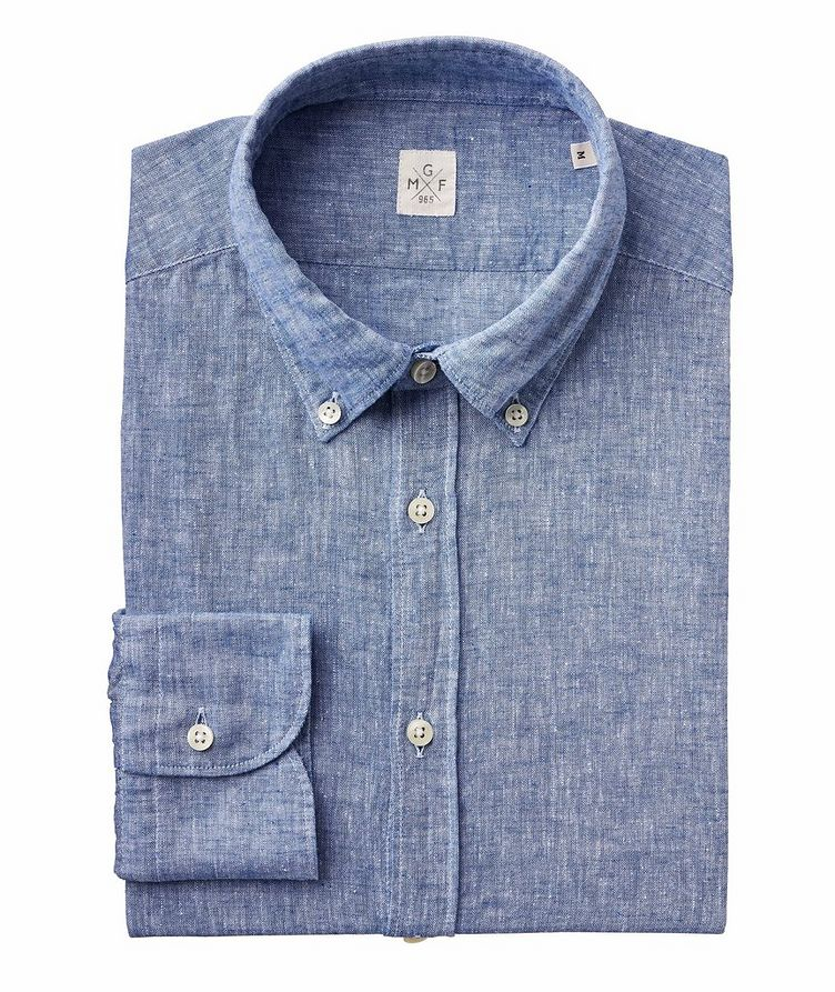 Chambray Linen-Cotton Shirt image 0