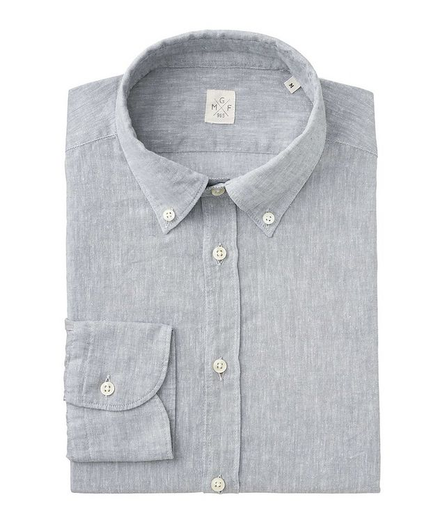 Chambray Linen-Cotton Shirt picture 1