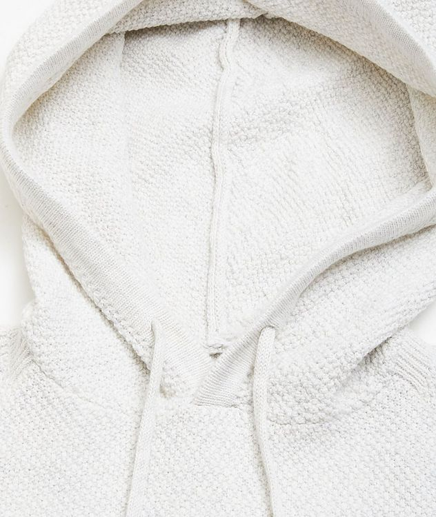 Lamp Cotton-Blend Knit Hoodie picture 2