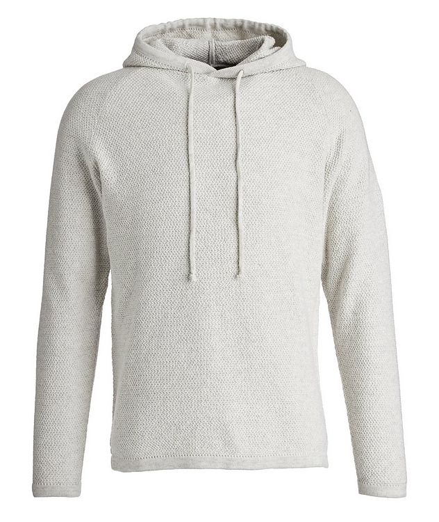 Lamp Cotton-Blend Knit Hoodie picture 1