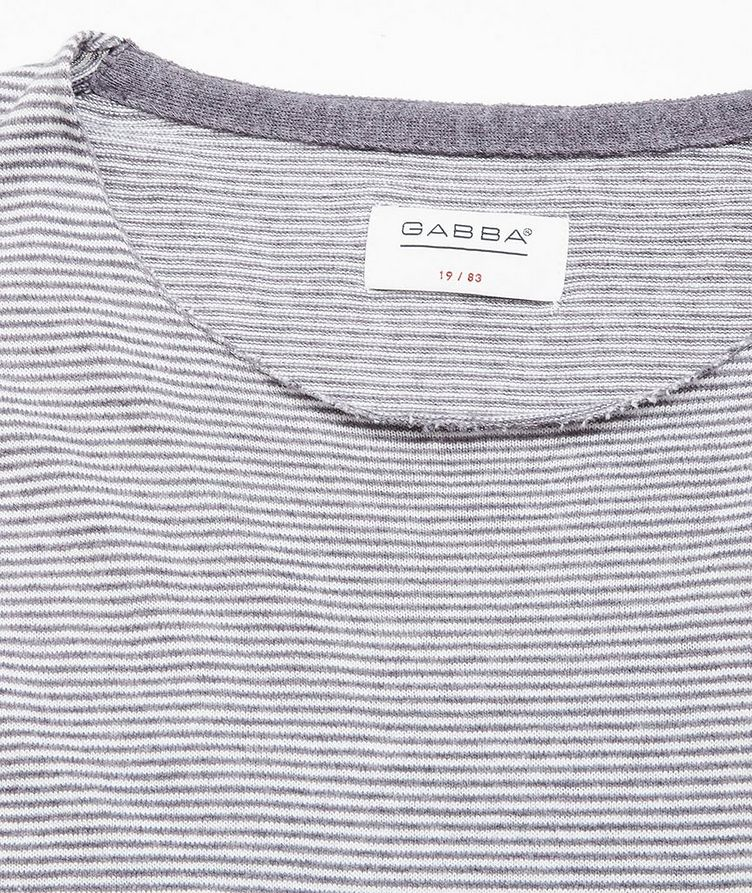 Moon Stripes Linen-Cotton-Blend Sweater image 1
