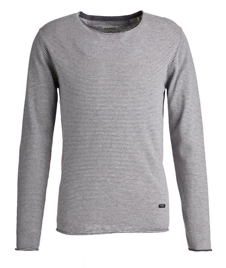 Moon Stripes Linen-Cotton-Blend Sweater image 0