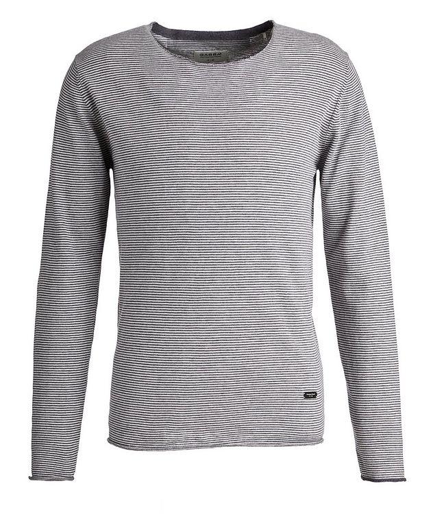 Moon Stripes Linen-Cotton-Blend Sweater picture 1