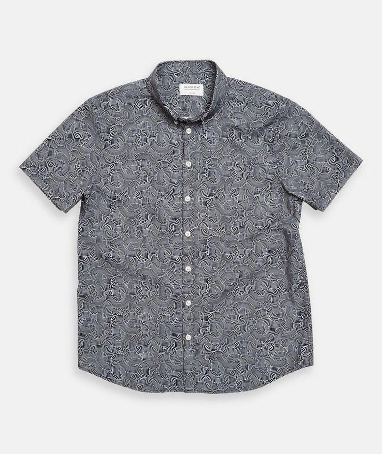 Short-Sleeve Byron Waves Cotton Shirt image 1