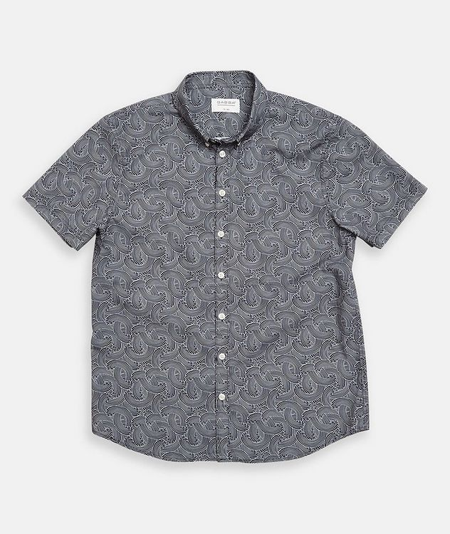 Short-Sleeve Byron Waves Cotton Shirt picture 2