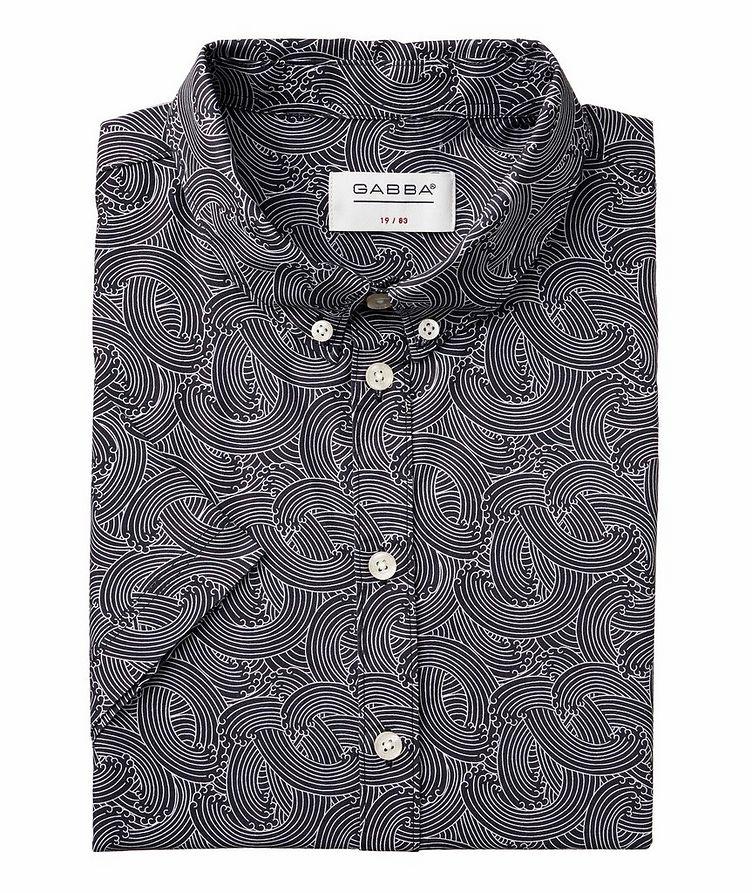 Short-Sleeve Byron Waves Cotton Shirt image 0