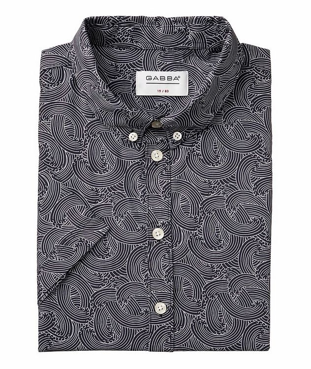 Short-Sleeve Byron Waves Cotton Shirt picture 1