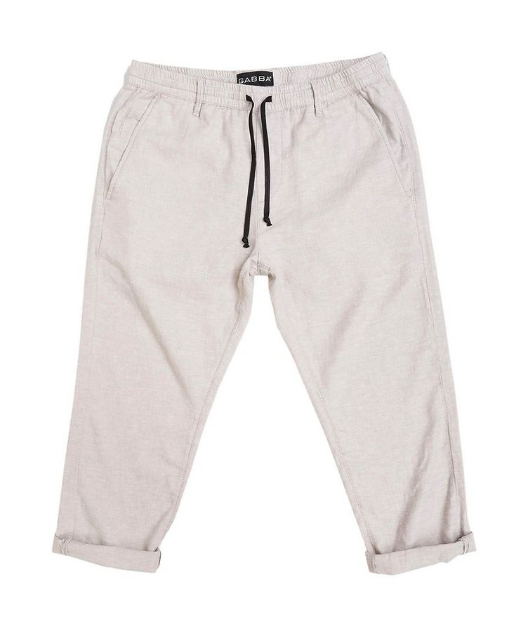 Taylor Stretch Linen and Cotton Pants image 1
