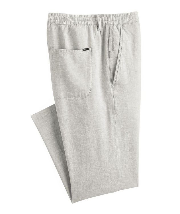 Taylor Stretch Linen and Cotton Pants picture 1
