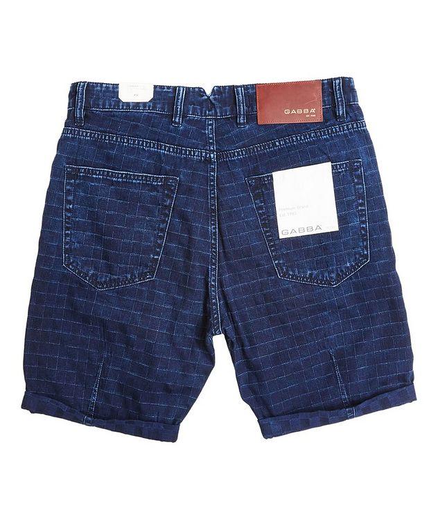 Anker Check Denim Shorts picture 6