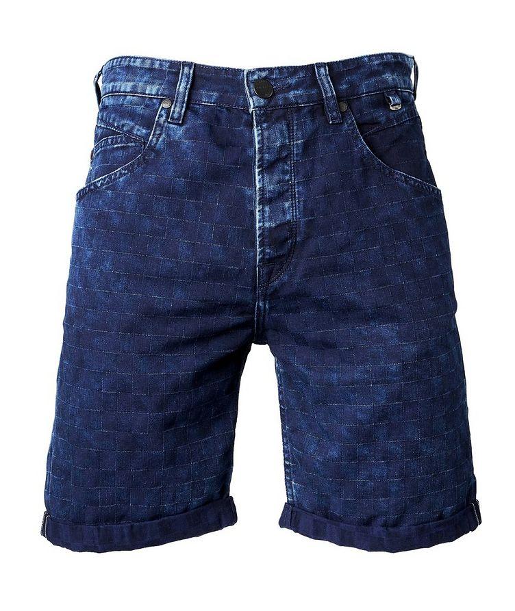 Anker Check Denim Shorts image 0