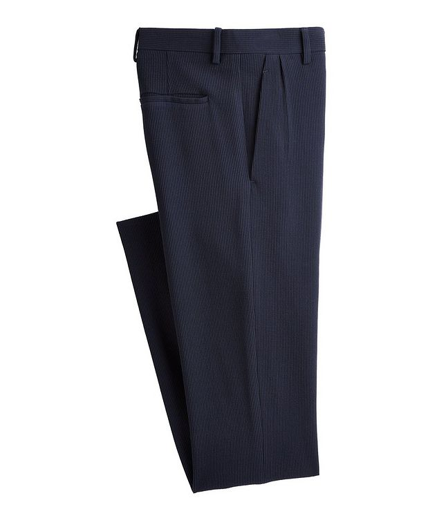 Slim-Fit Wool-Blend Trousers picture 1