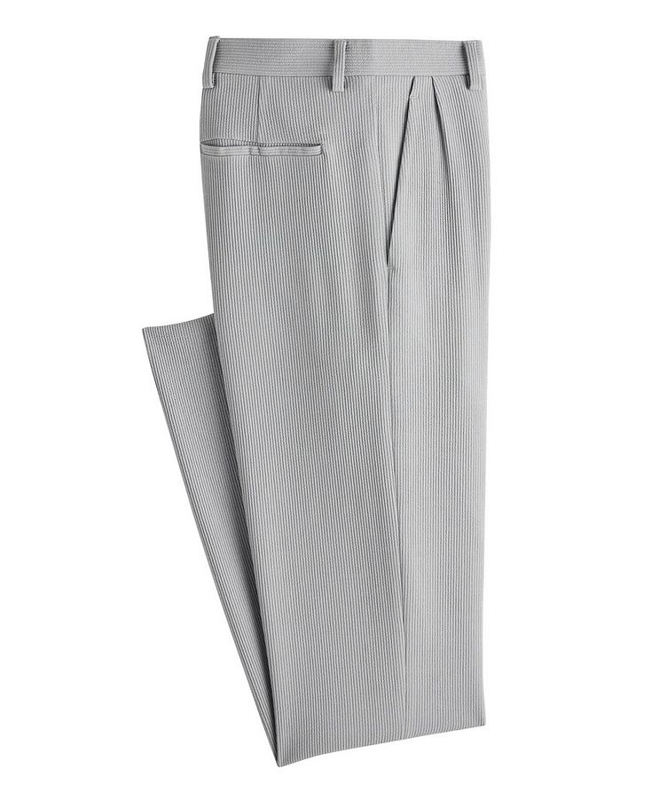 Slim-Fit Wool-Blend Trousers image 0