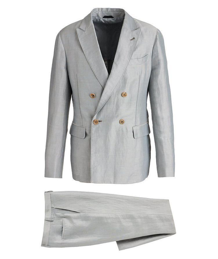 Upton Unstructured Linen-Silk Suit image 0