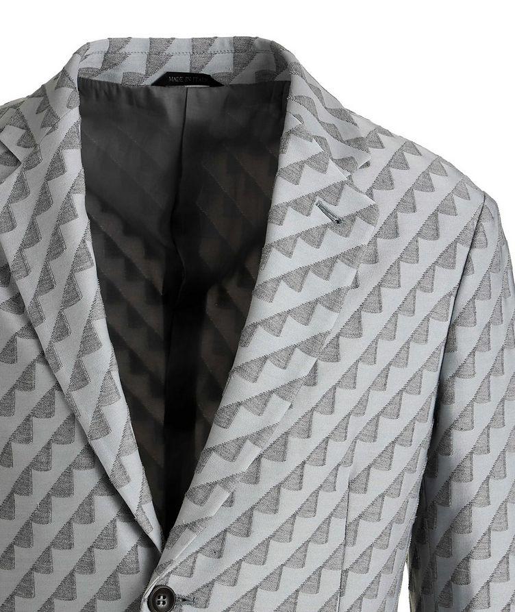 Unstructured Stretch Cotton-Blend Sports Jacket image 2