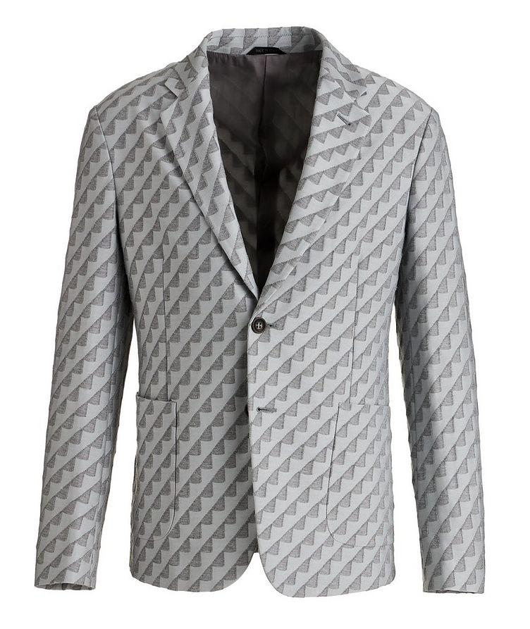 Unstructured Stretch Cotton-Blend Sports Jacket image 0