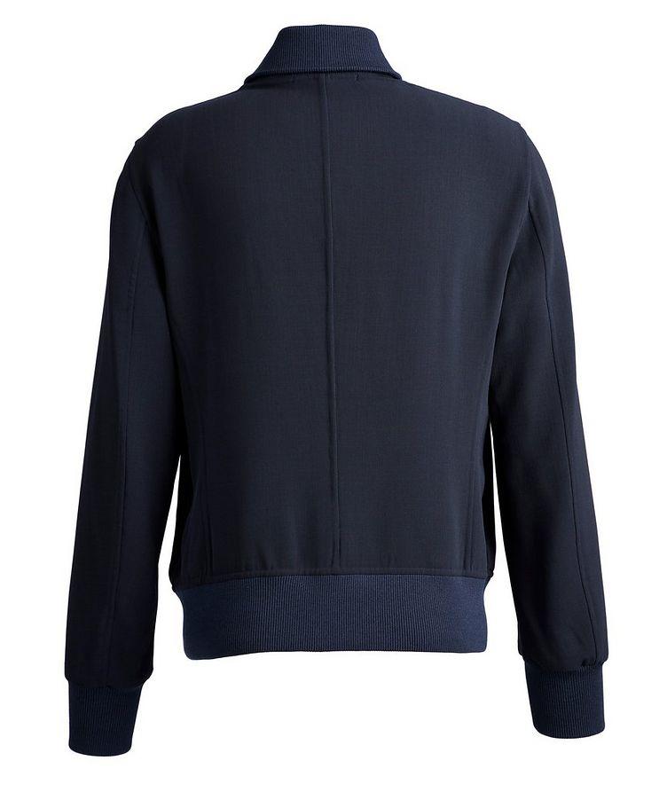 Stretch-Wool Bomber Jacket image 1