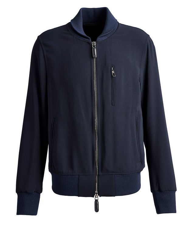 Stretch-Wool Bomber Jacket picture 1
