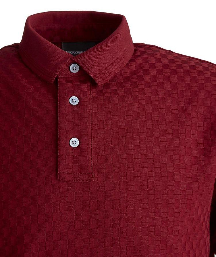 Jacquard Cotton Polo image 1