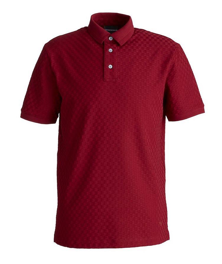 Jacquard Cotton Polo image 0