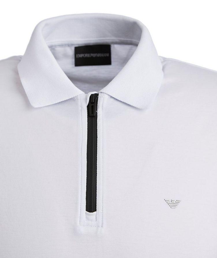 Half-Zip Lyocell-Cotton Polo image 1