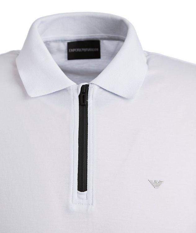Half-Zip Lyocell-Cotton Polo picture 2
