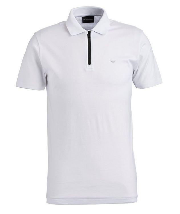 Half-Zip Lyocell-Cotton Polo picture 1