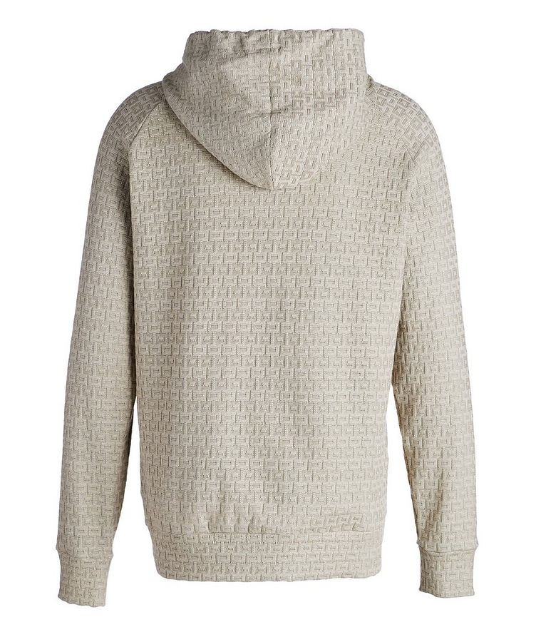 Textured Knit Cotton Hoodie image 1