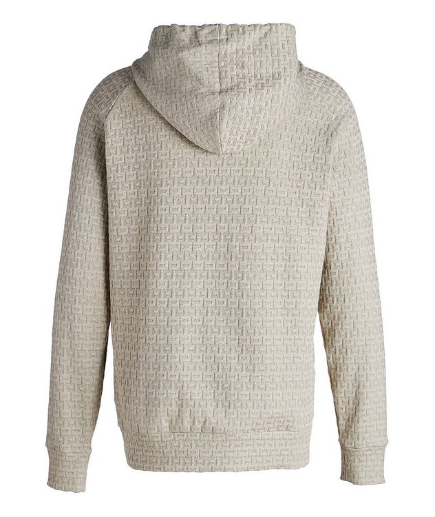 Textured Knit Cotton Hoodie picture 2