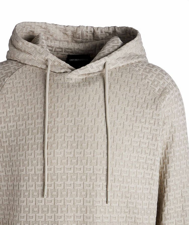 Textured Knit Cotton Hoodie image 2