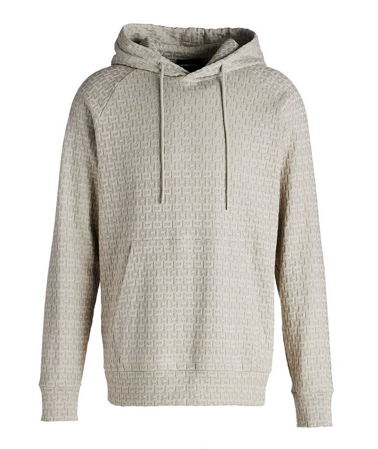 Textured Knit Cotton Hoodie image 0