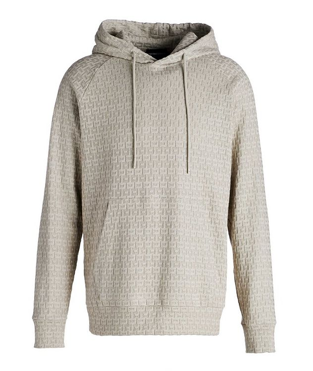 Textured Knit Cotton Hoodie picture 1