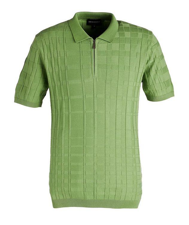 Half-Zip Slim Fit Cotton Polo picture 1
