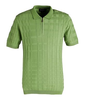 Emporio Armani Half-Zip Slim Fit Cotton Polo